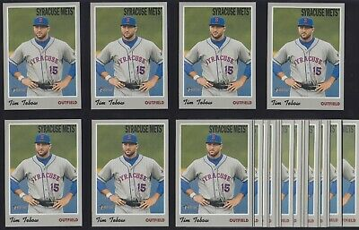 2019 Topps Heritage Minor League TIM TEBOW Lot of (24) BASE CARDS METS PROSPECT!