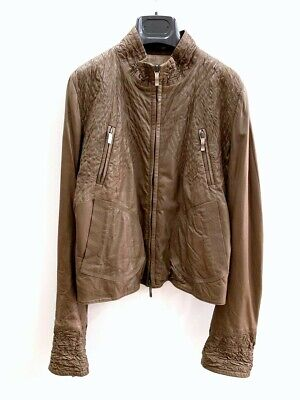Ermanno Scervino Women's Jacket Leather Size 46 Brown 25562