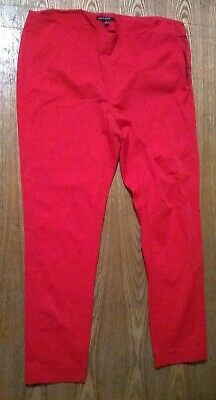Chaus Sport Women's Side Zip Stretch Red Straight Leg Pants No Pockets - Size 8