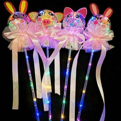 5X LED Light Up Magic Ball Glowing Stick Fairy Wand Kids Girl Toy Party Classic