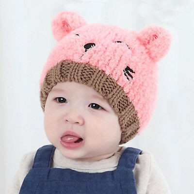 Baby  Boy Knits For Girl Winter Hat Toddler Kids Warm Beanie Cap 4 Colors Modish
