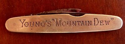 Young's Mountain Dew Whisky Whiskey Advertising Pocket Knife