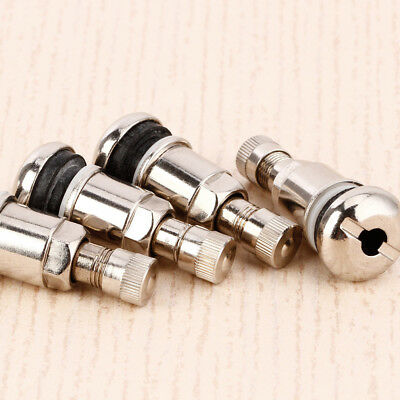 4X Bolt in steel car wheel tyre valves stems fit alloys include dust caps #ZH1