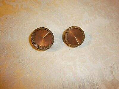 Two Vintage Plastic Radio Knobs - Silver Colour With Copper Colour Inserts