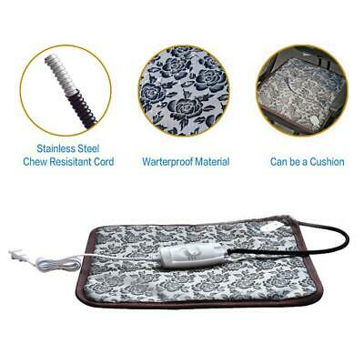 Electric Pet Heating Pad Puppy Dog Cat Warmer Bed Mat Waterproof Safe Cushion
