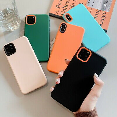 For Apple iPhone 11 Pro Max XS XR XS 8 7 6s Plus Liquid Silicone Soft Case Cover