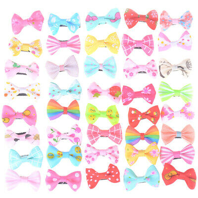 10Pc Hair Bow Clips Bowknot Alligator Hair Pins Kids Girls Barrettes Gift Supply