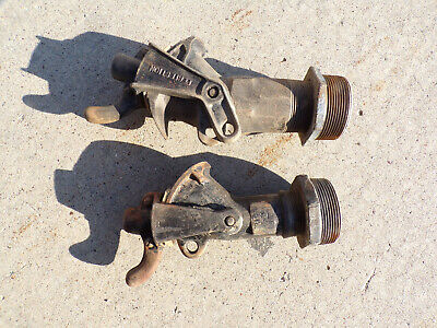 Lot of 2 Vintage / Antique Faucets Sargent Perfection Oil Drum Valve Cast Iron