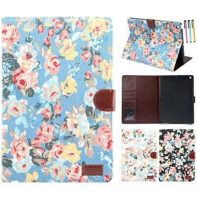 """For Apple iPad 10.2"""" 7th Generation 2019 Case Floral Leather Smart Stand Cover"""