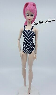 New Barbie doll clothes fashion swimmers bathing suit stripe one piece