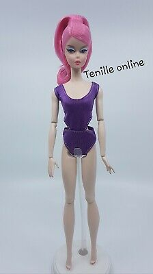 New Barbie doll clothes fashion swimmers bathing suit purple 1 piece