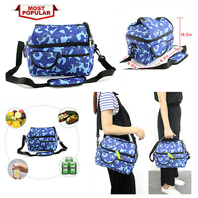 Insulated Cooler Warm Lunch Bag Tote office travel Hot Cold Food Thermal Bag