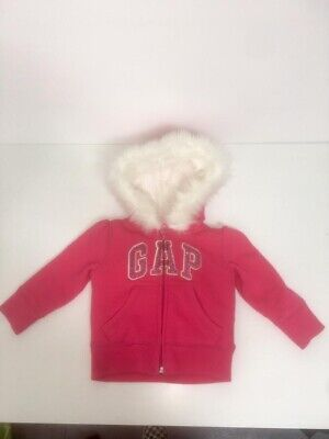 Baby Girl Gap Hoodie With Zip And Fur 12-18 Months