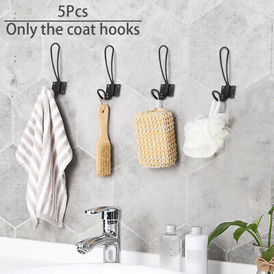 5 Hooks Vintage Antique Coat Hat Ches Robe Wall Mounted Holder Door Hook Rack