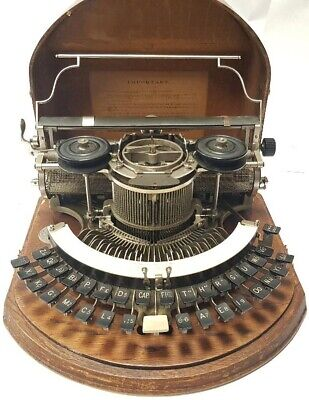Antigua maquina de escribir HAMMOND nº2 curva, rare antique TYPEWRITER curved
