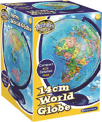 Brainstorm Childrens Educational Toys Geographic Earth Map World Globe 14cm New
