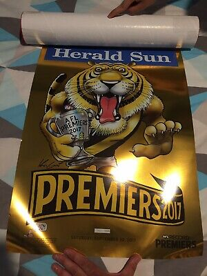 2017 Richmond Tigers Premiership Knight Gold Limited Edition Poster Sold Out WEG