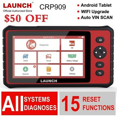 LAUNCH X431 CRP909 Auto All System OBD2 Scanner Diagnostic Tablet Scan Tool TPMS