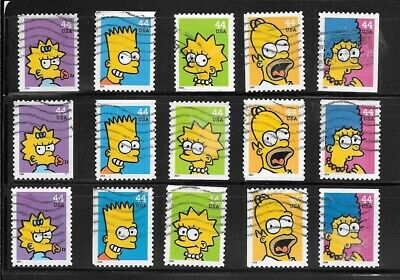 U S Stamps Used 4401 - 4405 The Simpsons One Of These Vf Sets