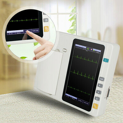 "7""LCD Touch Screen Digital 3Channel Electrocardiograph ECG/EKG Machine Medical"