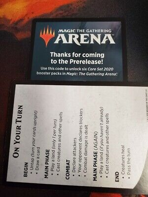 MTG Arena Core Set 2020 Pre-Release MSG CODE ONLY for 6 packs of M20 1 per act