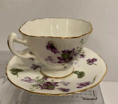 "Hammersley ""Victorian Violets""  - 3"" Tea Cup and  5 "" Saucer Bone China England"