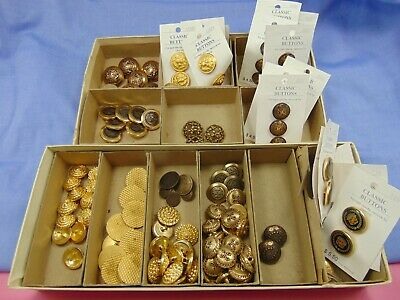 Buttons Metal & Plastic LOT Ornate Shank Decorative 120 buttons