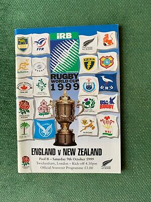 Rugby World Cup Programme 1999 England V New Zealand