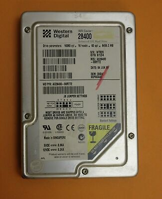 "Western Digital WD Caviar 28400 8.4GB 3.5"" Internal Hard Drive AC28400"