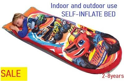 BLAZE & THE MONSTER MACHINES Ready Bed Toddler Airbed Sleeping Bag kids boy gift