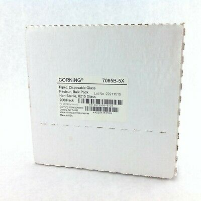 Corning 7095B-5X Disposable Glass Pipet Pasteur Bulk Pack 200pk
