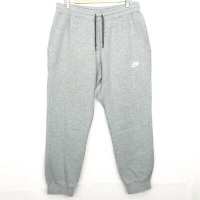 NIKE AW77 Cuff Fleece Pant Joggers Grey Size Large Mens Track Bottoms Sweatpants