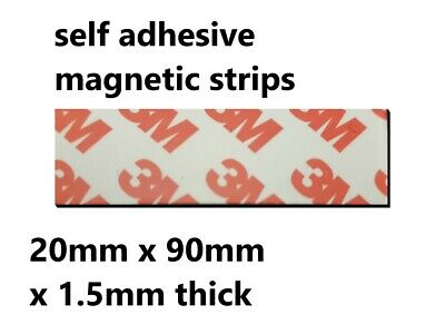 3M Self Adhesive strong backing Magnetic Tape Craft Magnet Strip 20mm x 90mm x 4
