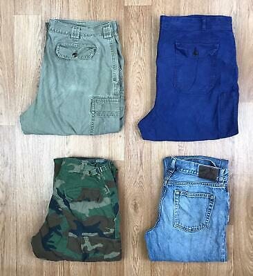 30 x UNBRANDED VINTAGE TROUSERS & SHORTS WHOLESALE | GRADE B | JOB LOT