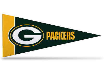 "NFL Green Bay Packers Mini Pennant Felt 9""x4"" (22 x 9 1/2cm) NEW"