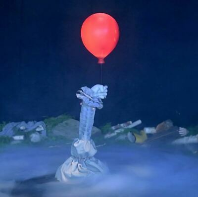3 Ft Animated FLOATING PENNYWISE BALLOON ARM Halloween Prop IT CHAPTER 2