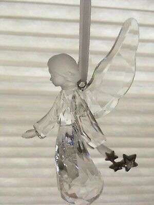 2008 Swarovski Crystal ANGEL 2008 Annual Christmas Ornament  with star wand
