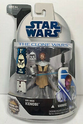 Star Wars The Clone Wars OBI-WAN KENOBI NO.2 Action Figure Firing Jet Backpack