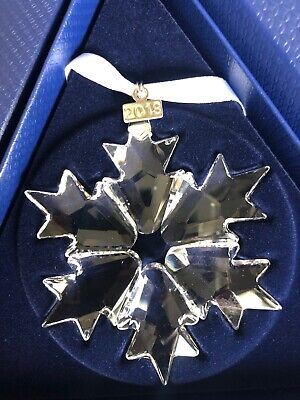 2018 Swarovski Crystal Annual Edition Snowflake Christmas Ornament Retired COA
