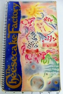 Cheesecake Factory Restaurant Menu, Washington, DC 1993