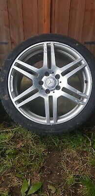 """4 x Genuine Mercedes Benz MB E Class 18"""" W207 AMG Alloy Wheels and Tyres"""