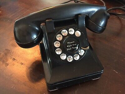 Vintage Western Electric 302 Rotary Dial Telephone 1930's Bell System H5 Phone