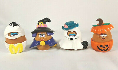 Vintage 1992 McDonald's Chicken McNuggets Buddies Halloween Nugget Costumes Toys