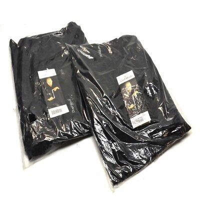 "(2) NEW Chef Works NBBP-000-4XL Black Baggy Designer chef Pants ""4X-Large"""