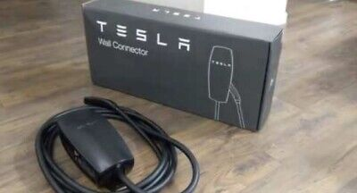 Tesla Elon Signature Etching Black Wall Connector - Special Edition - EV Charger