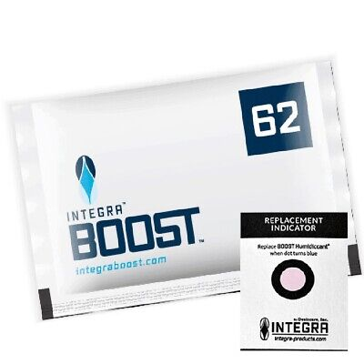1x Pack Integra Boost RH 62% 67 gram Humidity 2 Way Control Humidor Pack