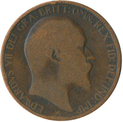 1902 Half Penny Of Edward Vii. / Collectible Coin    #Wt5355