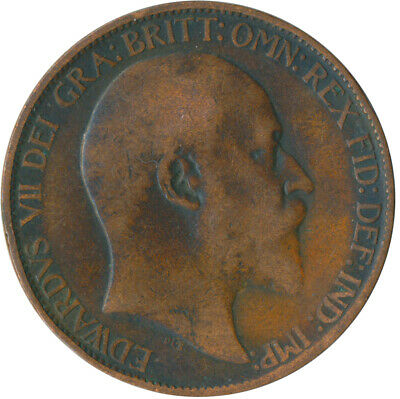 1904 Half Penny Of Edward Vii. / Collectible Coin    #Wt5358