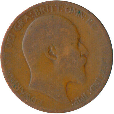 1907 Half Penny Of Edward Vii. / Collectible Coin    #Wt5359
