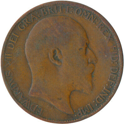 1908 Half Penny Of Edward Vii. / Collectible Coin    #Wt5361